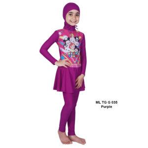 Jual Baju RenangAnak SD Perempuan Edora Muslimah ML TGG 035 Purple Terbaru