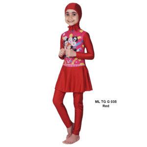 Jual Baju RenangAnak SD Perempuan Edora Muslimah ML TGG 035 Red Terbaru