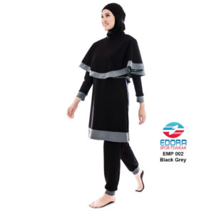 Baju Renang Muslimah Edora EMP 002 Black Grey