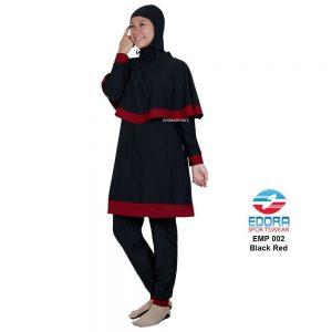 Baju Renang Muslimah Edora EMP 002 Black Red