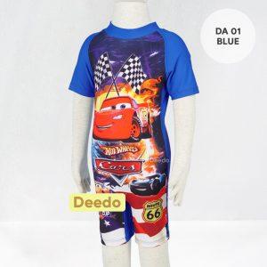 Baju Renang Anak TK Deedo DA 01 Blue Car's