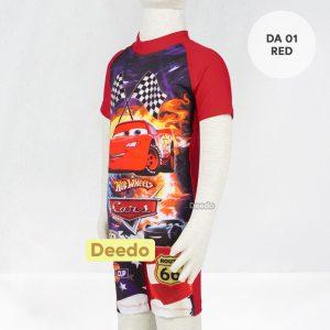 Baju Renang Anak TK Deedo DA 01 Red Car's