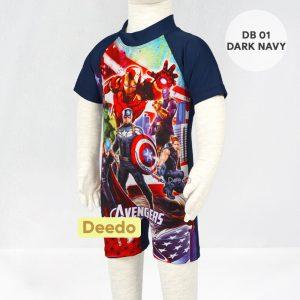 Baju Renang Bayi Deedo DB 01 Dark Navy AVENGER'S