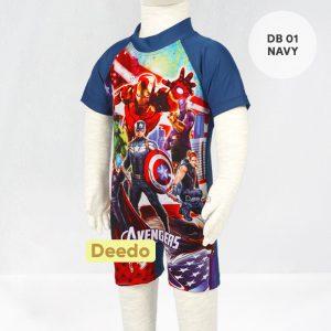 Baju Renang Bayi Deedo DB 01 Navy AVENGER'S