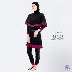 Baju Renang Muslimah Edora EMP 002 Black Magenta