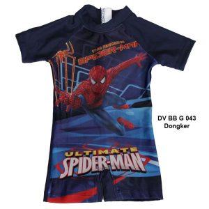 Baju Renang Bayi Deedo DV BB G 043 Spiderman Dongker