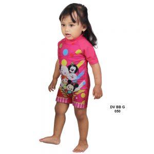 Baju Renang Bayi Deedo DV BB G 050 Tsum-Tsum Pink