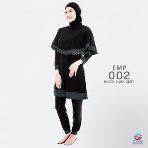 Baju Renang Muslimah Edora EMP 002 Black Dark Grey