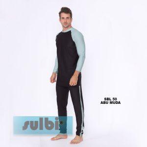 Baju Renang Pria Sulbi SBL 50 Abu Muda