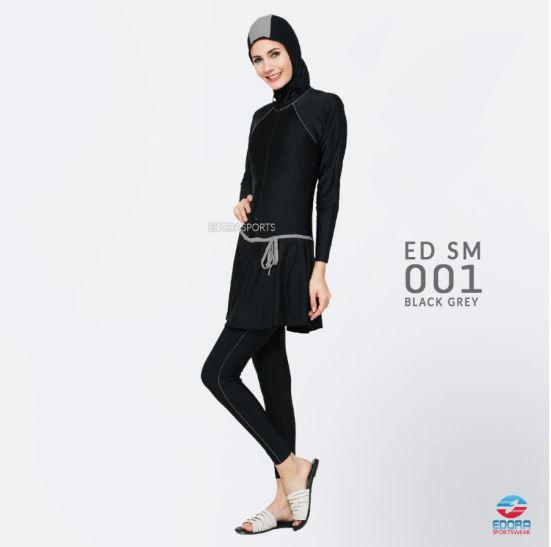 Jual Baju Renang Muslimah Murah ED SM 001 Black Grey
