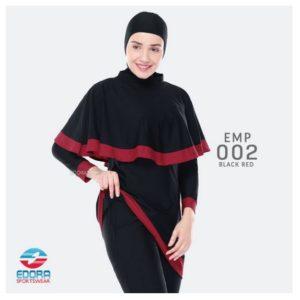Grosir Busana Renang Modern Edora EMP 002 Black Red