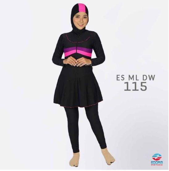 Grosir Busana Renang Muslimah Terbaru  ES ML DW 115