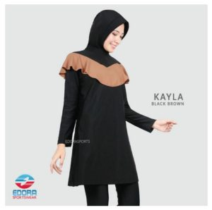 Toko Baju Renang Terbaru Edora Kayla Black Brown