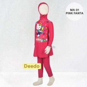 Jual Baju Renang Anak Murah MA 01 Pink Fanta Hello Kitty