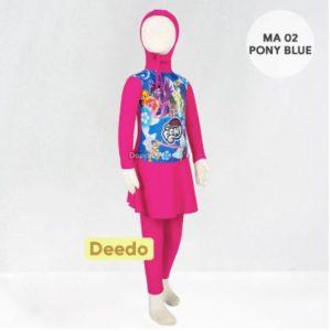 Jual Baju Renang Anak Murah MA 02 Blue Little Pony