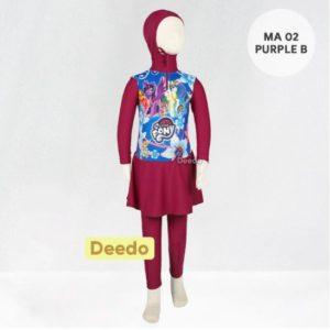 Grosir Baju Renang Anak Muslimah MA 02 Purple B Little Pony