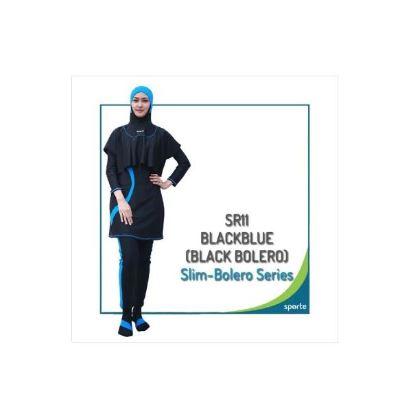 Toko Baju Renang Muslimah Modern SR 11 Black Blue Bolero (black)