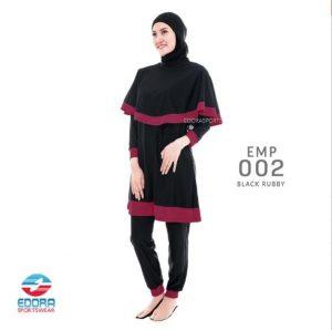 Jual Baju Renang Muslimah Modern Eedora EMP 002 Black Ruby