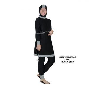 Grosir Baju Renang Wanita Muslimah Murah SBDP Mumtaaz 04 Black Grey