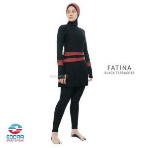 Grosir Baju Renang Muslimah Murah Edora Fatina Black Terracota