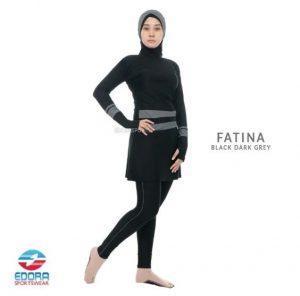 Jual Baju Renang Muslimah Modern Edora Fatina Dark Grey
